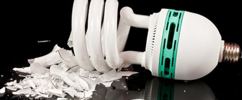 Tips: Cleaning Up a Broken Florescent Lamp or Bulb